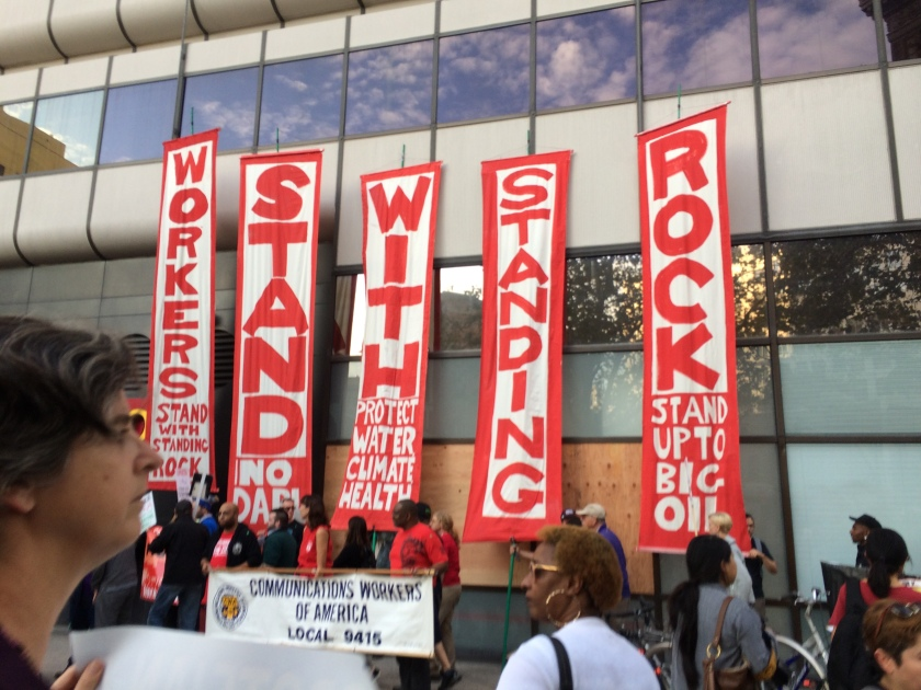 Stand with Standing Rock in Oakland demonstration at Wells Fargo #NoDAPL