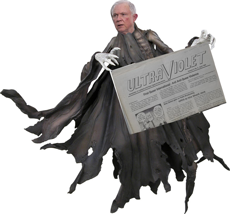 Sessions as dementor-general holds ultraviolet in his claws