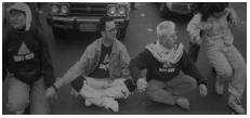 photo of Golden Gate Bridge blockade 1989