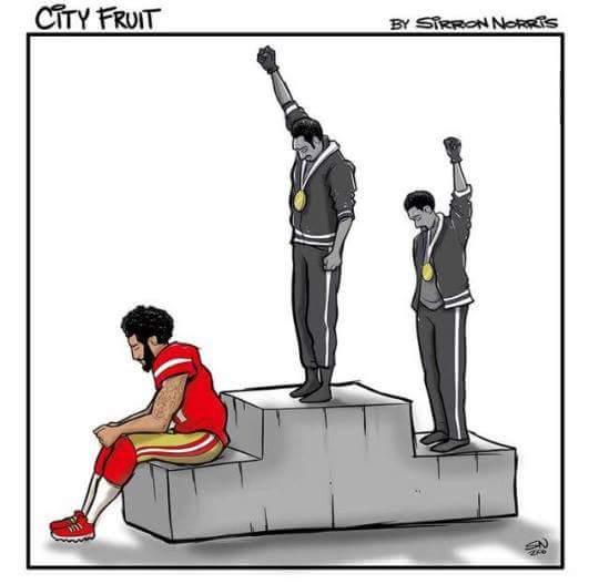 Cartoon of Kaepernick