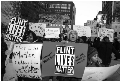 photo of demo at Flint, MI