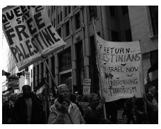 photo of Free Palestine march