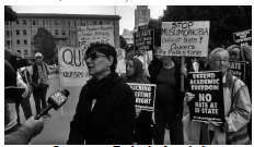 photo of demo for academic freedom