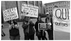 photo of Queers defending academic freedom