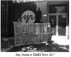Gay Shame at YIMBY Town 2017