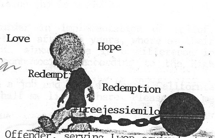 graphic of prisoner with chains