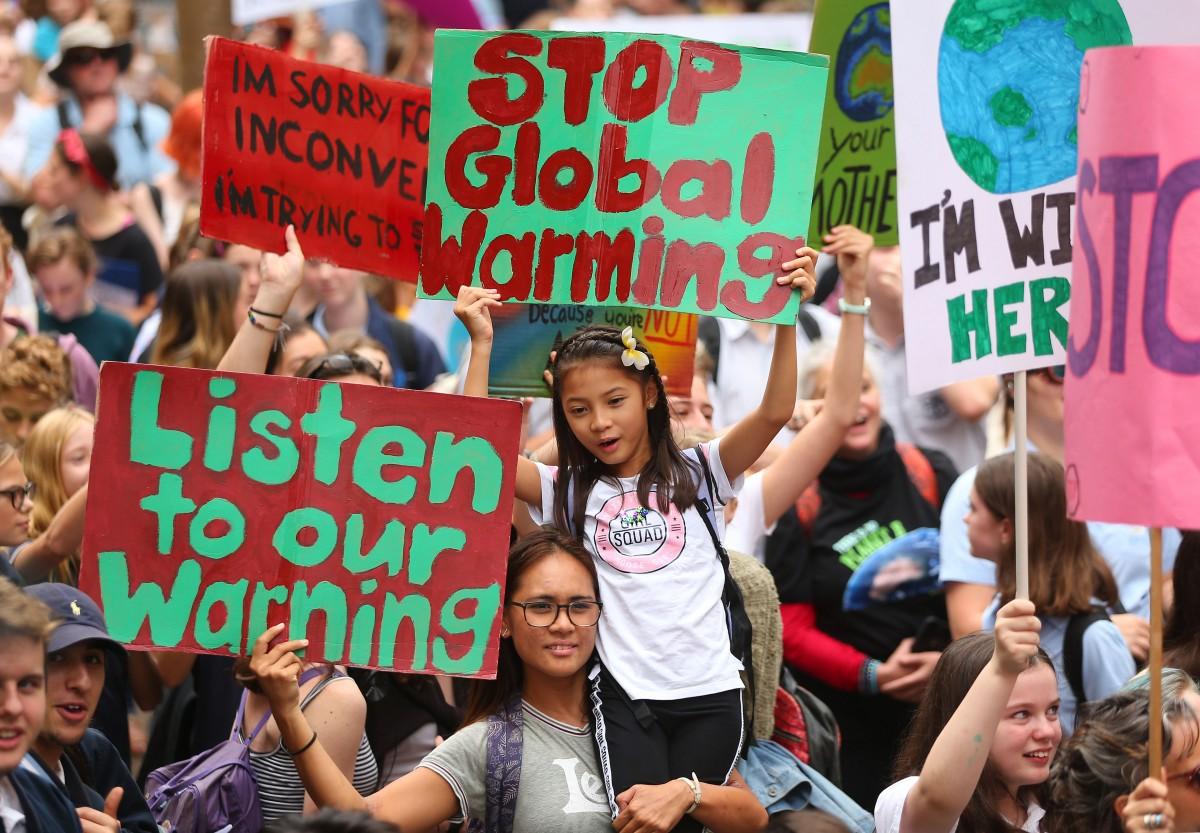 photo of Climate Change protestors