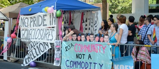 photo of LAGAI booth at Pride Parade c. 2010