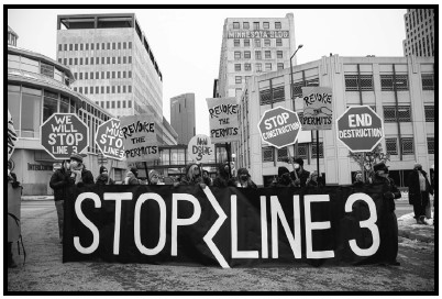 photo of Stop Line 3 protest march