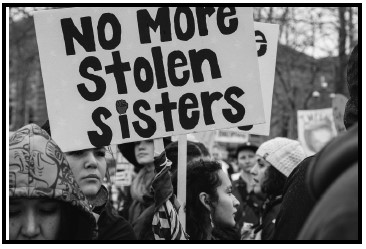photo of protest sign No More Stolen Sisters